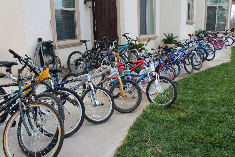 Bikes awaiting new owners