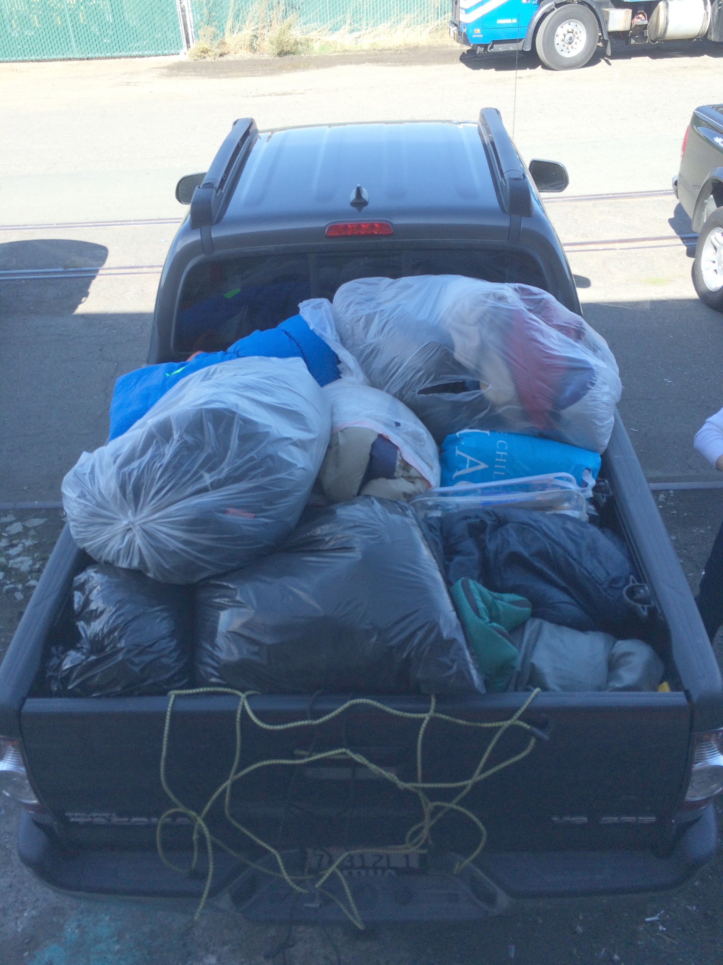 Loaded shipment for homeless in Redding